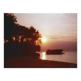 Sunset Water Reflection Photo Print