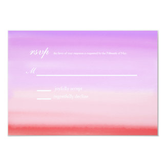 Sunset Watercolor Monogram Collection   rsvp 3.5x5 Paper Invitation Card