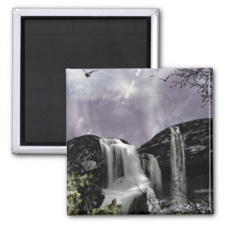 Sunset Waterfall Gothic Landscape fantasy Magnet