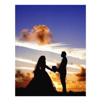 Sunset Wedding Couple Letterhead Template