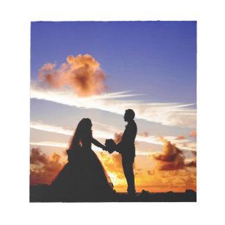 Sunset Wedding Couple Notepad