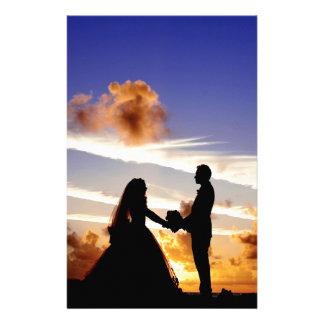 Sunset Wedding Couple Stationery
