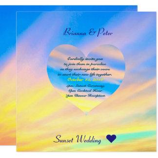 Sunset | Wedding Invitation Semi-Gloss