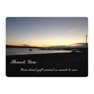 Sunset West Cork, Ireland- Thank you Card