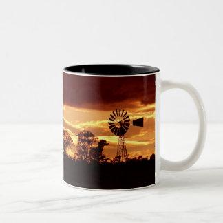 Sunset Windmill Silhouette Mug