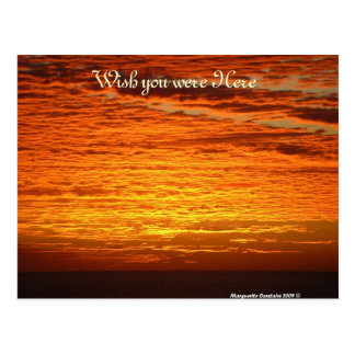 sunset, Wish you were Here Post Card