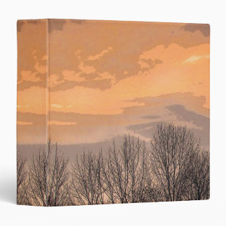 Sunset with Bare Trees Binder