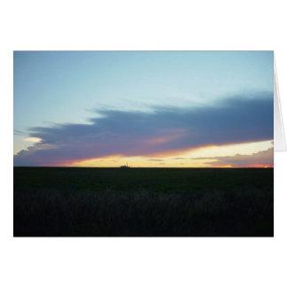 Sunset With Cloud Bridge Card