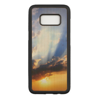 Sunset with Clouds, Beautiful Sky Carved Samsung Galaxy S8 Case