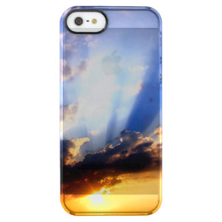 Sunset with Clouds, Beautiful Sky Clear iPhone SE/5/5s Case