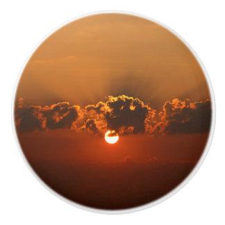 Sunset with Clouds Ceramic Knob