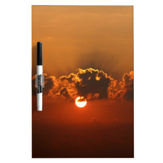 Sunset with Clouds Dry Erase Whiteboards