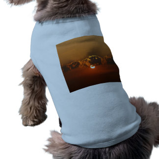 Sunset with Clouds Pet T Shirt