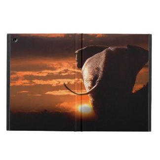 Sunset with Elephant Cover For iPad Air