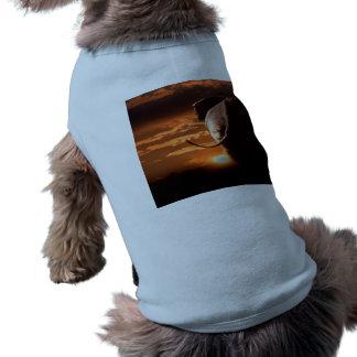 Sunset with Elephant Dog Tee Shirt