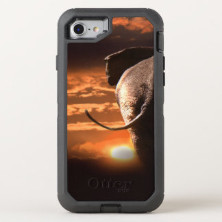 Sunset with Elephant OtterBox Defender iPhone 8/7 Case