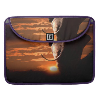 Sunset with Elephant Sleeve For MacBooks