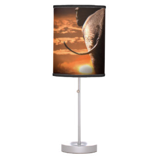 Sunset with Elephant Table Lamp