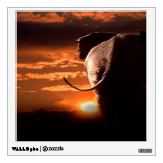 Sunset with Elephant Wall Decal