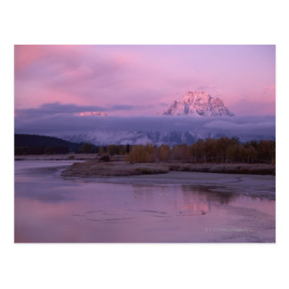 Sunset with Mount Moran in Grand Teton National Postcard