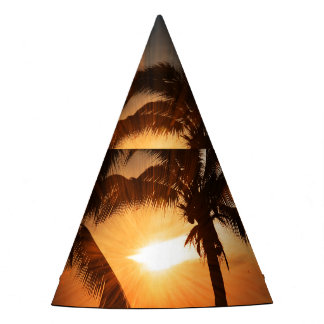 Sunset with Palms Party Hat