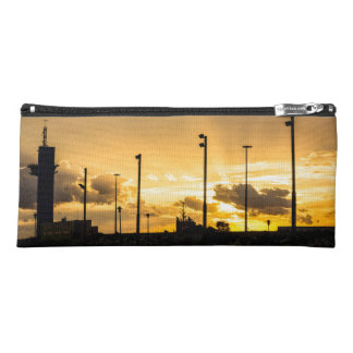 Sunset with rays of light filtering through clouds pencil case