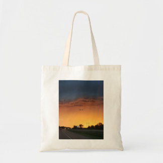 Sunset with Storm Clouds Tote Bag