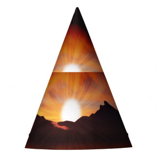 Sunset with Sunlight Party Hat