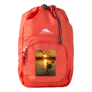 Sunset with Swan Backpack