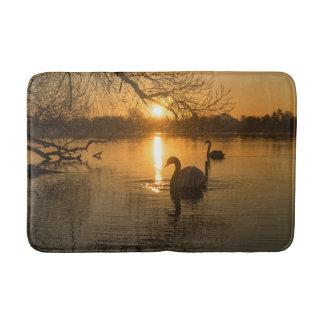 Sunset with Swan Bath Mat