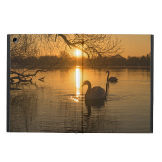 Sunset with Swan Case For iPad Air