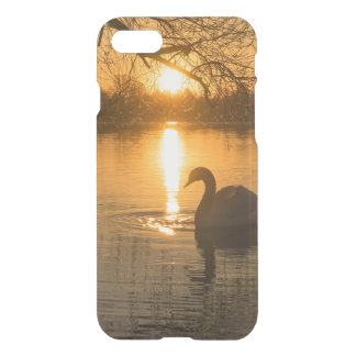 Sunset with Swan iPhone 7 Case