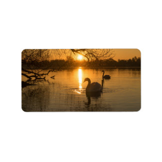Sunset with Swan Label