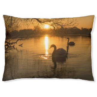 Sunset with Swan Pet Bed