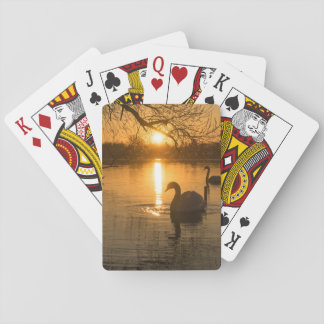 Sunset with Swan Playing Cards