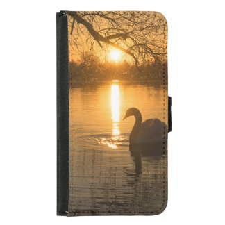 Sunset with Swan Samsung Galaxy S5 Wallet Case