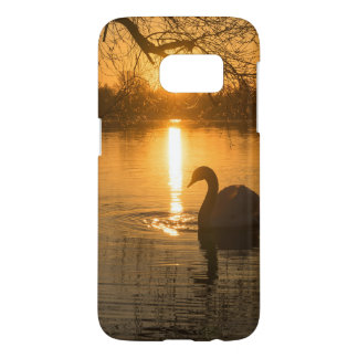 Sunset with Swan Samsung Galaxy S7 Case
