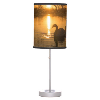 Sunset with Swan Table Lamp