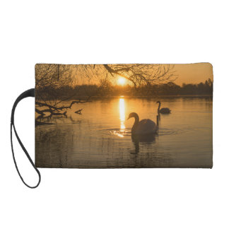Sunset with Swan Wristlet