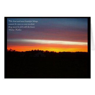 Sunset with Verse - Note Card