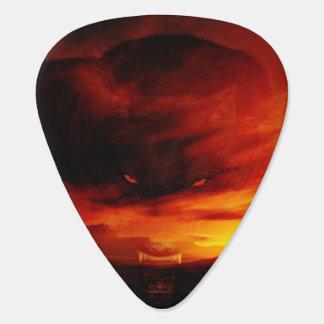 Sunset wolf guitar pick