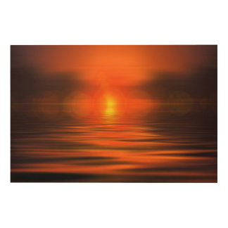 Sunset Wood Wall Art