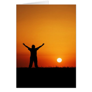 Sunset worship Greeting card