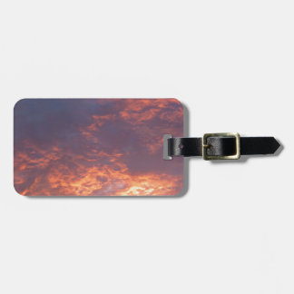 Sunset Yorkshire Landscape Bag Tag