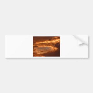 Sunset Yorkshire Landscape Bumper Sticker