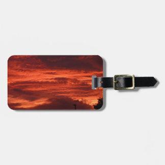 Sunset Yorkshire landscape Luggage Tag