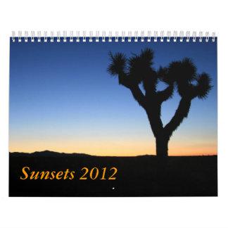 Sunsets 2012 calendar