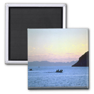 Sunset's afterglow, small boat on Sea of Cortez, M Magnet
