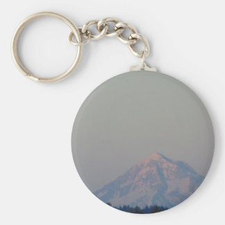Sunset's Glow on the Mountain Basic Round Button Keychain