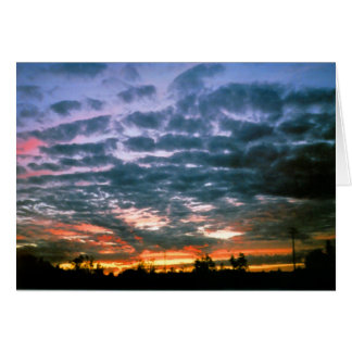 Sunsets in Alberta Thank You Card
